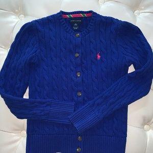 Polo Ralph Lauren Girls Cardigan- Size 8-10